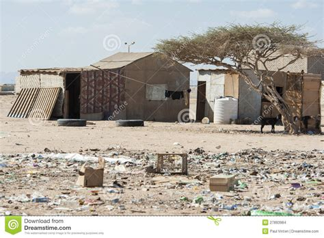 traditional house   poor african town stock photo