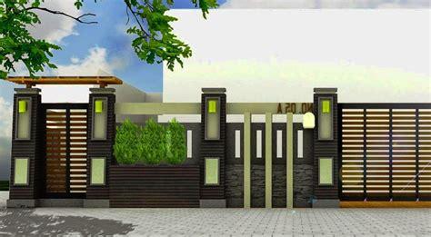 desain gambar pagar model pagar rumah minimalis desain rumah contoh gambar rumah