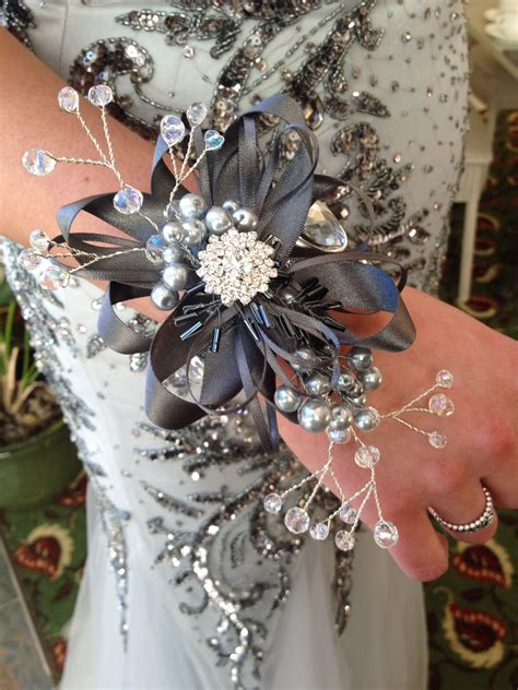 Prom Corsage by Button Prom Corsages 187 Blue Buttons