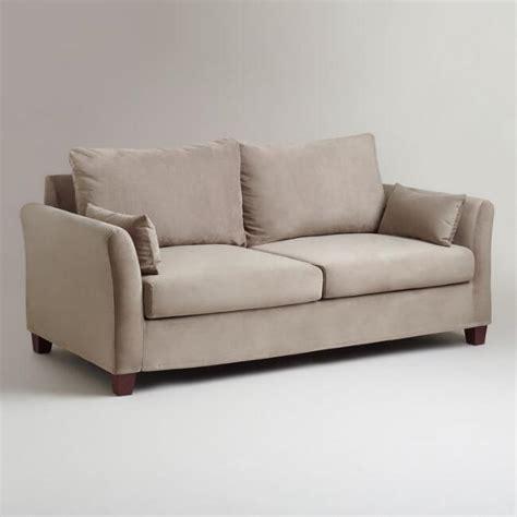 luxe slipcover gray mink velvet luxe sofa slipcover world market