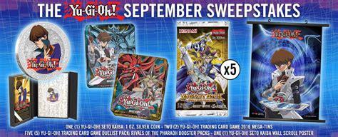 September Sweepstakes - yu gi oh sweepstakes the yu gi oh september sweepstakes