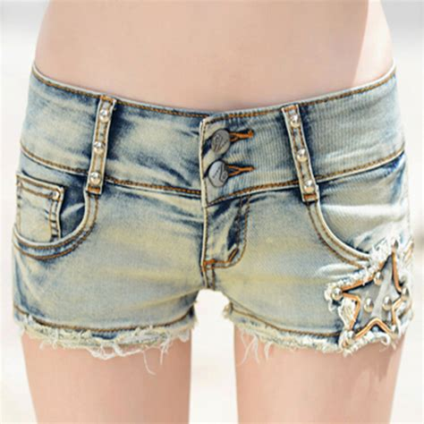 pattern for jeans shorts sexy blue plus size low rise washed jeans tight shorts