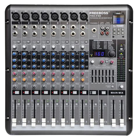 Info Mixer Audio aliexpress buy freeboss pro fx8 8mono channel 7 band eq 256 dsp effects professional usb