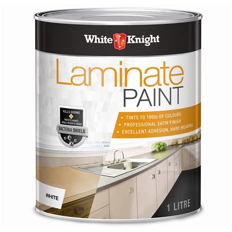 How To Paint Old Kitchen Cabinets White white knight 1l white laminate paint bunnings warehouse