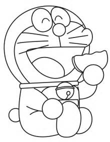doraemon eats cookie coloring amp coloring pages