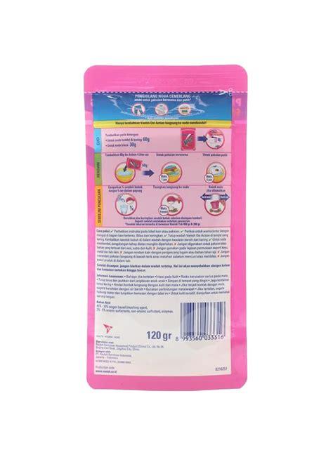 Vanish Pemutih Pakaian vanish penghilang noda powder oxi pch 120g