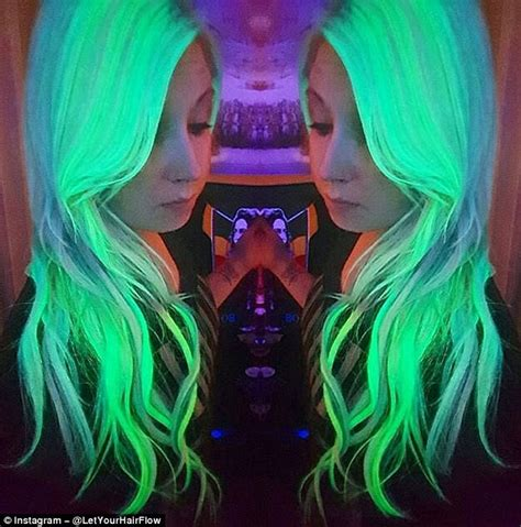 Glowing Daily Glow Siang Glow new instagram craze sees hair glow in the with neon
