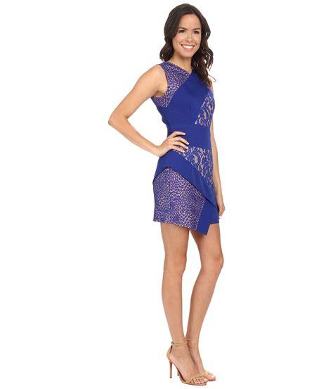 bcbgmaxazria dalia sleeveless asymmetrical skirt dress in