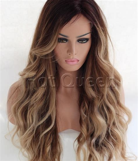 las wig 6a 100 human hair wigs remy ombre brown