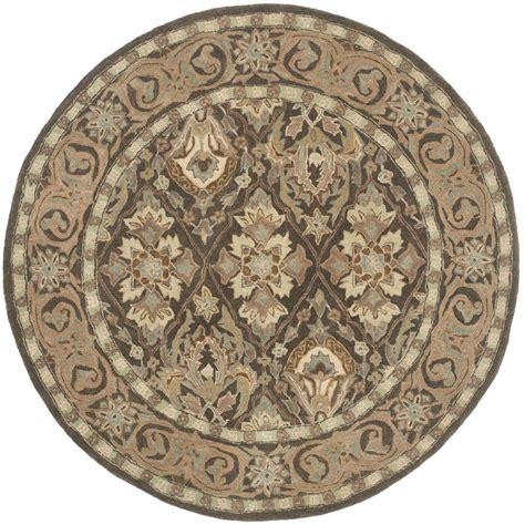 safavieh anatolia brown beige 6 ft x 6 ft area rug