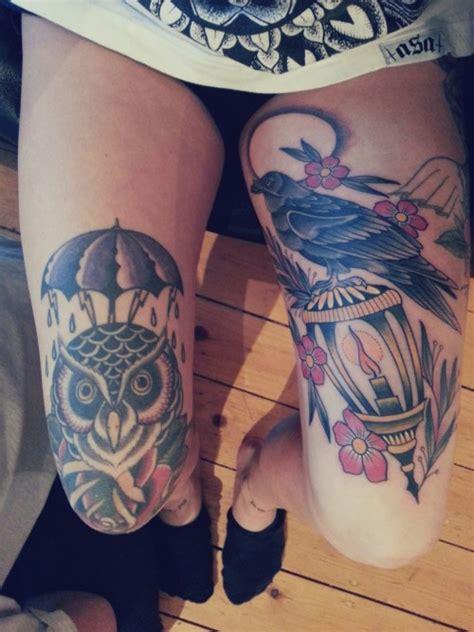 rose knee tattoo knee on