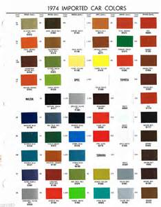 1974 mazda opel subaru color chip sle paint chart brochure ebay
