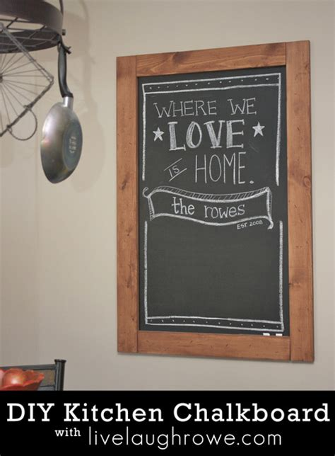 diy chalkboard quotes diy kitchen chalkboard live laugh rowe
