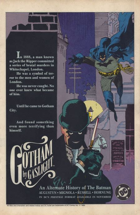 Batman Gotham By Gaslight Elseworlds Ebooke Book 1989 gotham by gaslight ad
