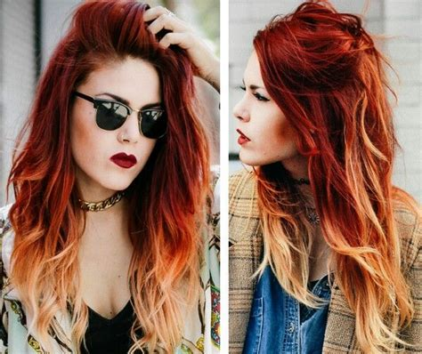 copper hair with white tuff styles luanna perez red copper ombre haircolors cuts and