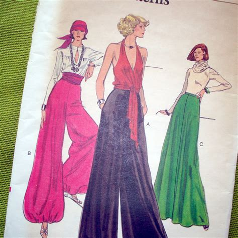 sewing pattern for palazzo pants 1970s vintage vogue sewing pattern palazzo pants by