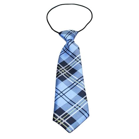 Plaid Neck Tie plaid big neck tie blue baxterboo