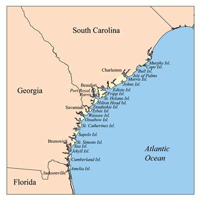 map of south carolina coast sea islands