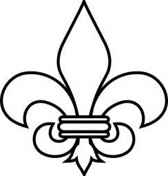 free coloring pages of fleur de lys