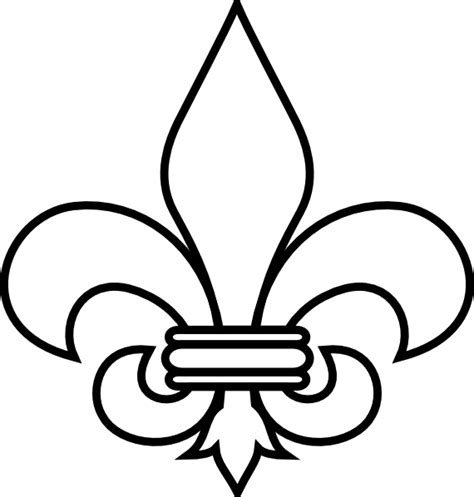 fleur de lis outline clip art at clker com vector clip