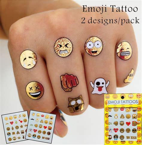 henna tattoo emoji 2 pcs set emoji gold color tattoos non toxic and