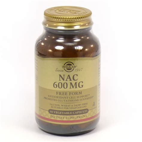 supplement nac nac 600 mg vegetable capsules n acetyl l cysteine by