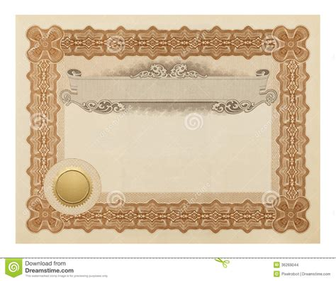fancy certificate stock images image 36269044
