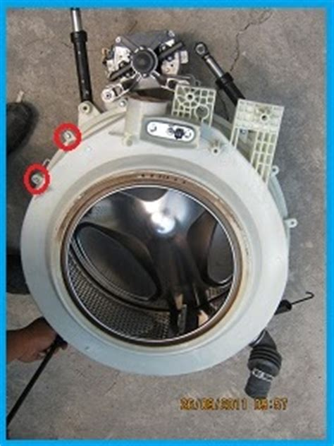 Mesin Cuci Front Door cara bongkar drum mesin cuci front loading elektro tehnik