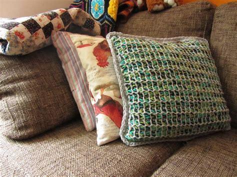 Tunisian Crochet Pillow by Tunisian Style Pillow Cover Allfreecrochet