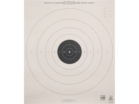printable match targets nra official pistol targets b 8 p 25 yard timed rapid
