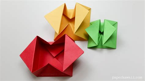 Paper Box Origami - origami envelope box paper kawaii