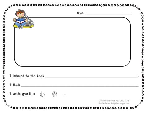 book report for kindergarten kindergarten book report