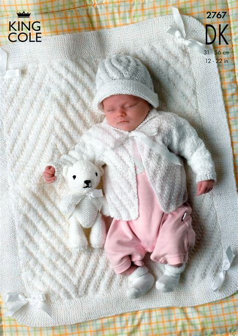 king cole free knitting patterns jackets hat and blanket in king cole comfort baby dk 2767