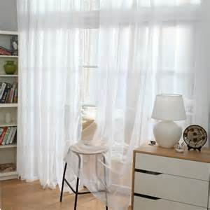 White Sheer Curtains Simple And Concise Design White Sheer Curtain