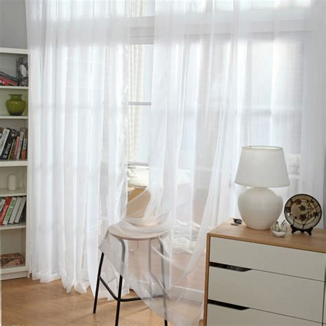 Simple and Concise Design Nice White sheer curtain