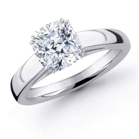 11 best images about cushion cut engagement rings on