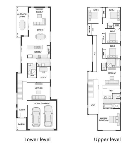 narrow house floor plan 25 best ideas about narrow lot house plans on narrow house plans retirement house