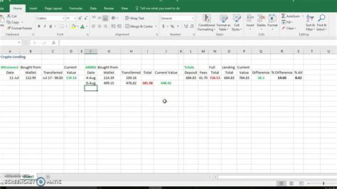 bitconnect lending spreadsheet my crypto spreadsheet to track money youtube