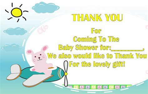 Free Thank You Card Templates Baby Shower by Baby Shower Thank You Cards 9 Printable Psd Eps Format