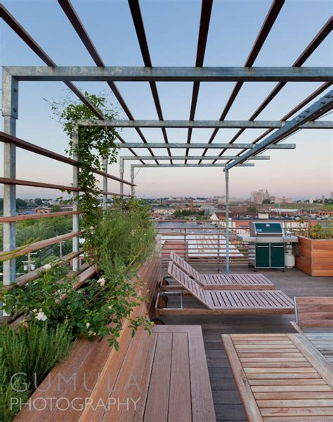 residential roof deck architectural photography
