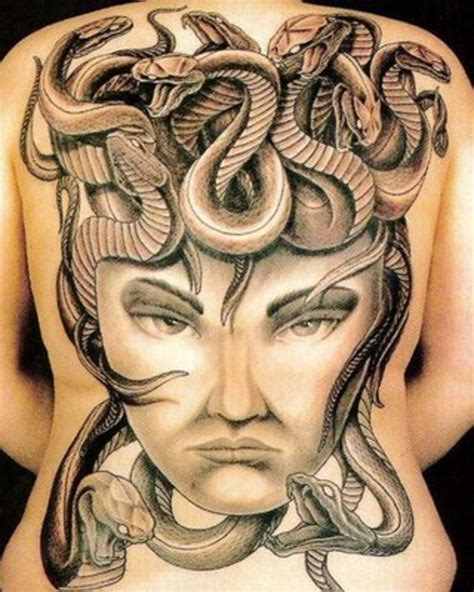 3d snakes tattoo on upper back tattoos photo gallery