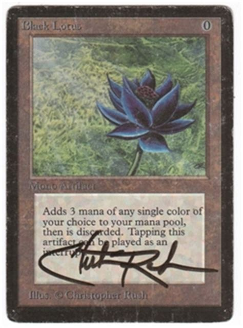 black lotus mtg price magic the gathering beta single black lotus signed by