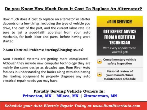 How Much Does An Mba From Princeton Cost by How Much Does It Cost To Replace An Alternator Near