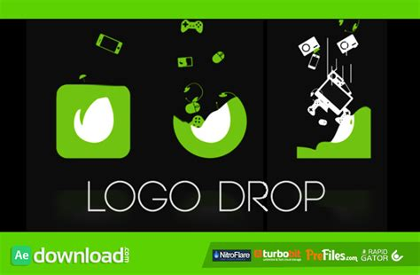 logo drop videohive template free download free after