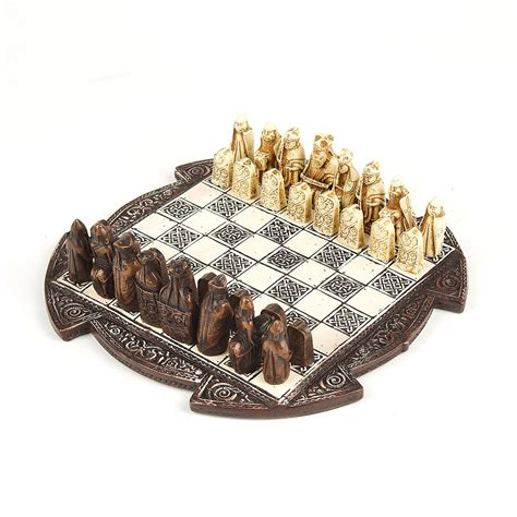 amazon com nautical chess set toys games small lewis chess set brown national museums scotland shop