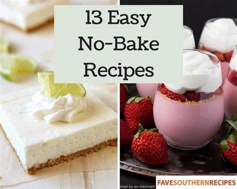 no bake dessert 13 easy no bake recipes