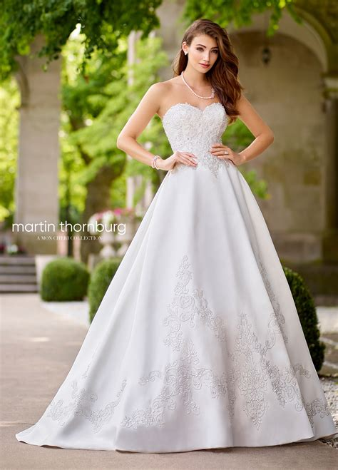 Martin Vintage Wedding Dresses by Sweetheart Mikado Lace A Line Wedding Gown 118256 Melisma