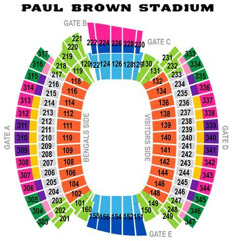 cincinnati bengals stadium seating bengals stadium address
