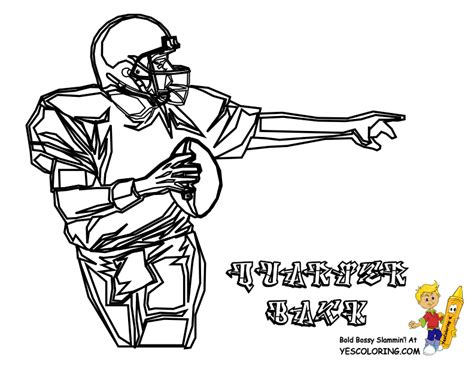 nfl quarterback coloring pages gutsy american football coloring pages quarterbacks