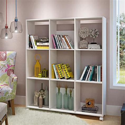 manhattan comfort serra 1 0 white 5 shelf bookcase carpina 5 shelf white and oak wood ladder bookcase